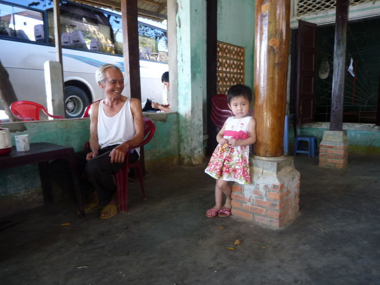 Adult Child Childhood Girls Grandpa Indoors  People Real People Togetherness Two People Vietnam
