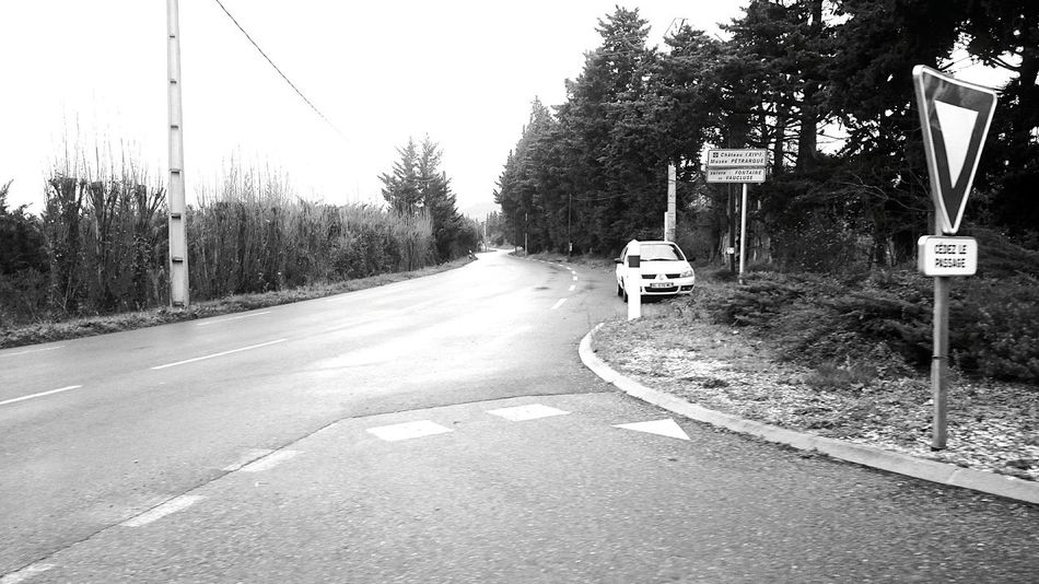 The EyeEm Facebook Cover Challenge InTheRoad Landscape Blackandwhite Nocolours Car Road