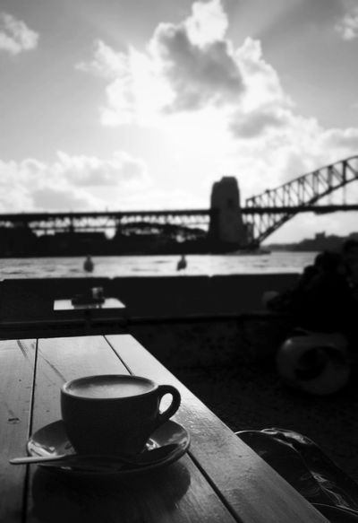 enjoy the coffee and the view... Blackandwhite Sydney Opera House