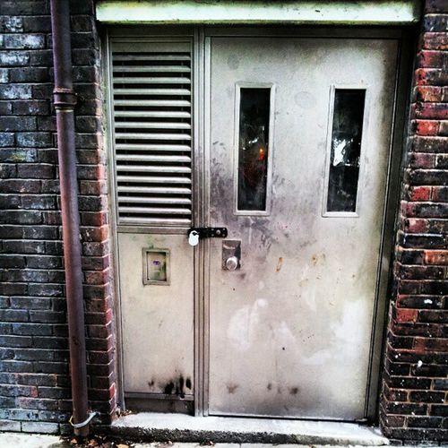 LockedIn Lockedinside Metaldoor Metaldoors shutter brick bricks brickwall drainpipe