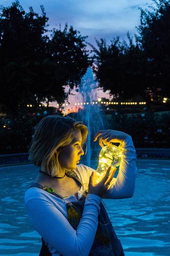 #doingthebrandonwoelfel Nightphotography Vintage Style Bluehour Bluehourphotography Doingthebrandonwoelfe Fairystringlight Instagramhub Night Photography Sony Sonyalpha