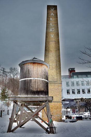 Architecture Built Structure Winter Building Exterior Cold Temperature Sky Nature Snow Day Tower Factory No People Storage Tank Industry Outdoors Transportation Building Container Fuel And Power Generation Ladder Don Valley Brick Works Park