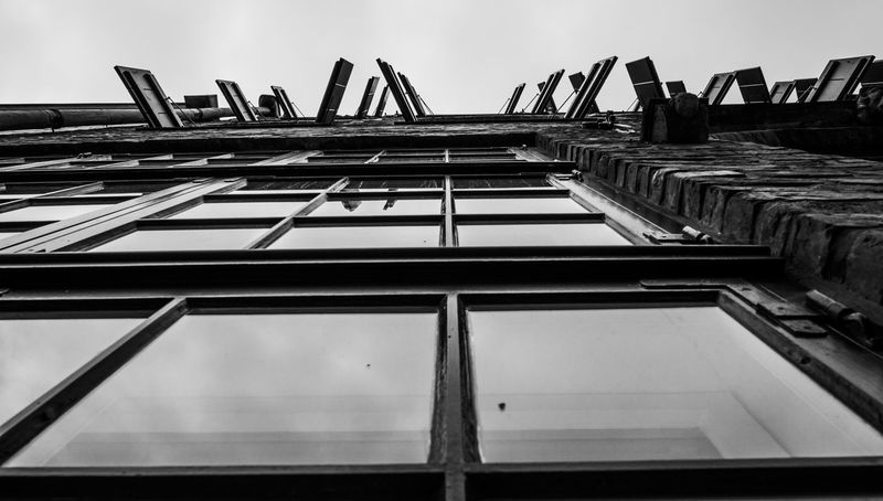 Architecture Architecture_collection EyeEm Best Shots Architecture Black And White Blackandwhite Blackandwhite Photography Building Exterior Built Structure City Class Class Flow Day Development House Houses And Windows Low Angle View No People Old Buildings Open Outdoors Sky Window Window Frame Windows