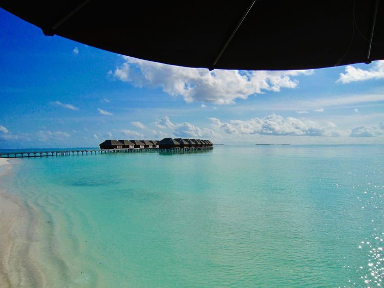 Been There. Luxury Hotel Luxurylifestyle  Beach Beauty In Nature Blue Cloud - Sky Horizon Over Water Idyllic Luxurylife Nature Sea Sky Tranquil Scene Tranquility Vacations Water