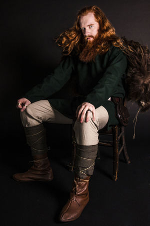 Adult Attitude Big Beard Chair Day Fashion Fashion Model Full Length Handsome Man Indoors  Looking At Camera Medieval One Person People Portrait Real People Red Beard Red Hair Red Hair ❤ Redhead Sitting Studio Shot Viking Warm Clothing Young Adult