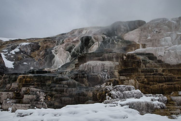 Mammoth hot springs in yellowstone nations park