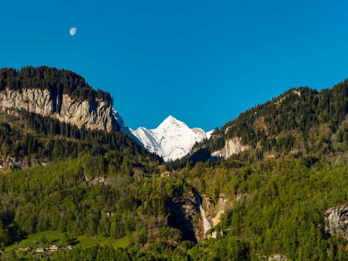 Wetterhorn Alps Beauty In Nature Blue Day EyeEmNewHere Landscape Moon Mountain Reichenbach S Sky Snow Swiss Switzerland Wetterhorn,