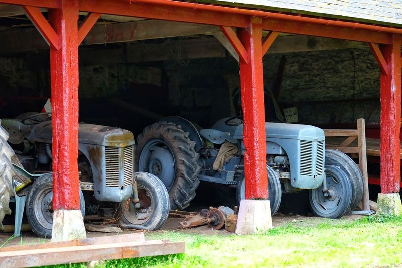 Massey Ferguson. Love these old tools of the land. Vintage Tractor Implement Steel Tire Land Vehicle Motor Vehicle Agricultural Machinery Combine Harvester Agricultural Equipment Vehicle