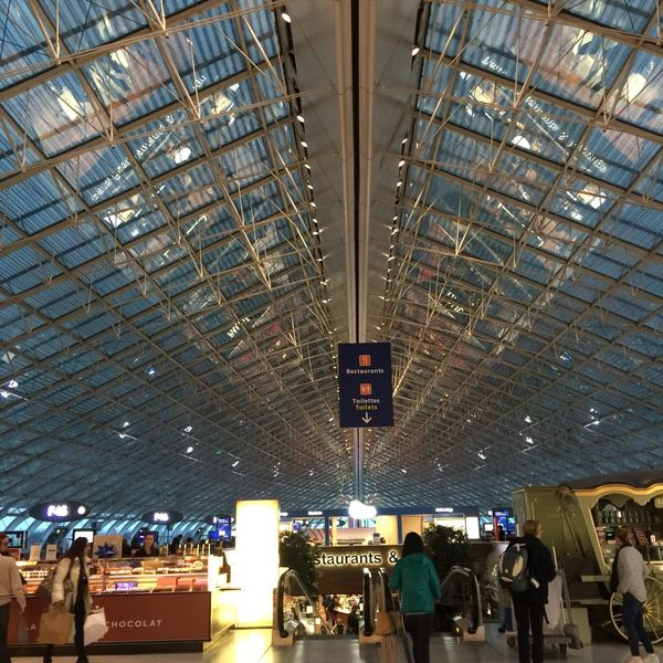 ปารีส ฝรั่งเศส Airport Indoors  Architecture People Travel November Flight Airfrance Cdg Built Structure