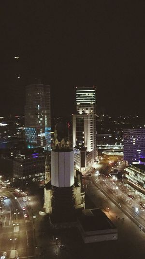 Berlin City Night Cityscape Building Exterior Illuminated City Life Architecture Modern Travel Destinations Urban Skyline Skyscraper No People Downtown District Sky Aerial View Metropoles Flying High
