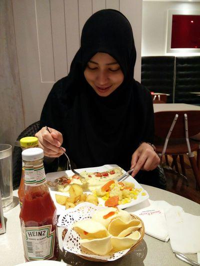 Dinner with baby girl! Goodnight Dinner