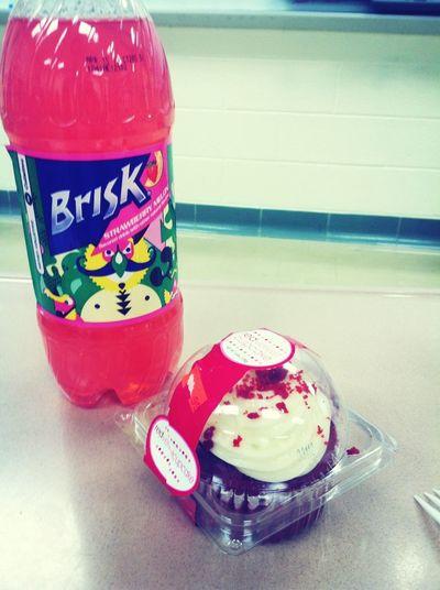 Red Velvet Cupcake & My Brisk