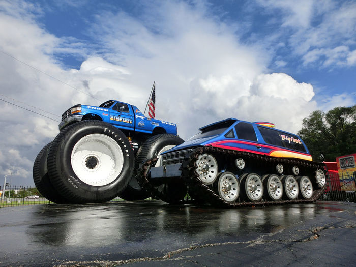Monster Monster Trucks Cloud - Sky Day Low Angle View No People Outdoors Patriotism Sky