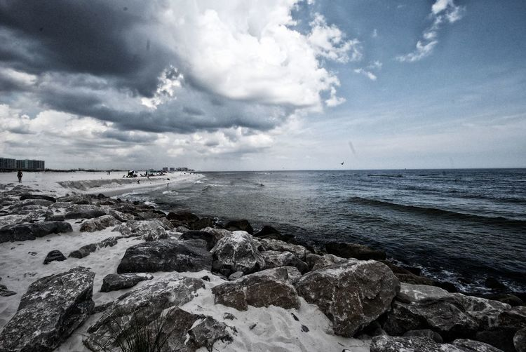 Beach Beauty In Nature Cloud Cloud - Sky Cloudy Horizon Over Water Nature Rock Rock - Object Rock Formation Scenics Sea Shore Sky Stone - Object Tranquil Scene Tranquility Water