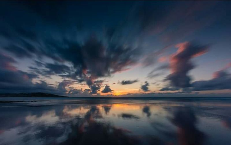 Reflection Sunset Dramatic Sky Cloud - Sky Outdoors Sky Sea Travel Destinations Beauty Vacations Water Night No People Nature Nautical Vessel Horizon Over Water Multi Colored