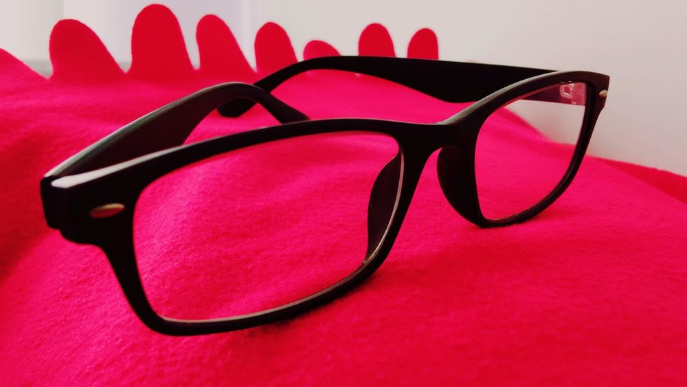 Fresh On Eyeem  Red Carpet Black Framed Glasses Red Still Life Single Object Pink Color Close-up Vision Personal Accessory Eyewear Eyesight Man Made Object No People Studio Shot Creativity