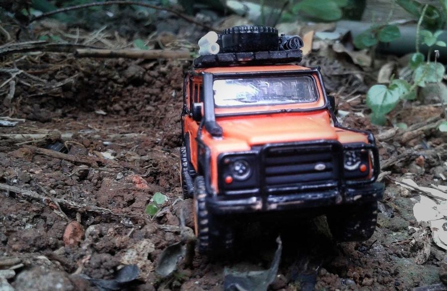 4 x 4 x far Offroad Landrover  Landrover Defender Diecast Diecastphotography DiecastIndonesia Car No People Day Outdoors