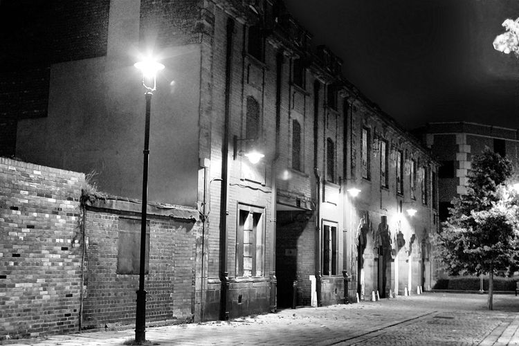 1900's Buildings Arch Architecture Black And White Photography Bridge Built Structure City City Tree Derelict Building Fire Station Grainy Illuminated Illuminated Signs Lamp Post Night No People Outdoors Street Light Sunderland City EyEmNewHere EyeEm Best Shots The Architect - 2017 EyeEm Awards Neighborhood Map