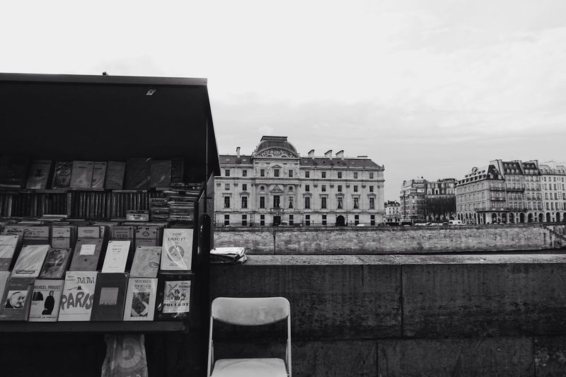 an Afternoon//. Paris Seine Riverside Books Outdoors City City Life Cityscape Streetphotography Waiting Built Structure Building Exterior Architecture Blackandwhite Black And White Lifestyles Life Building France Style Europe Travel View Urban Lifestyle Welcome To Black The Street Photographer - 2017 EyeEm Awards The Architect - 2017 EyeEm Awards Adventures In The City