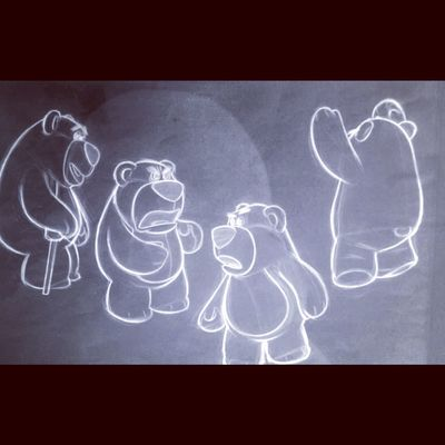 Bear Toys Blackandwhite