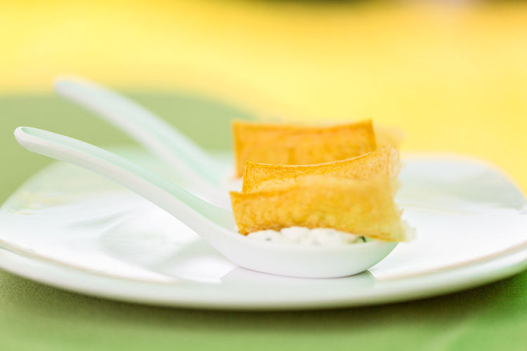 Appetizer Close-up Day Dessert Food Food And Drink Freshness Greenery Healthy Eating No People Plate Ready-to-eat SLICE Snack Starter Visual Feast Yellow Food Stories