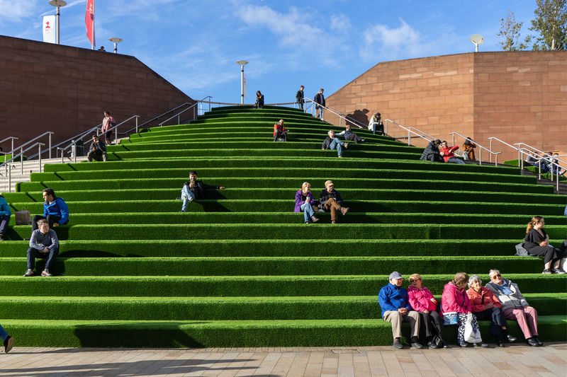 Liverpool One Mall Shopping Mall Green Stairs Soccer Field Match - Sport