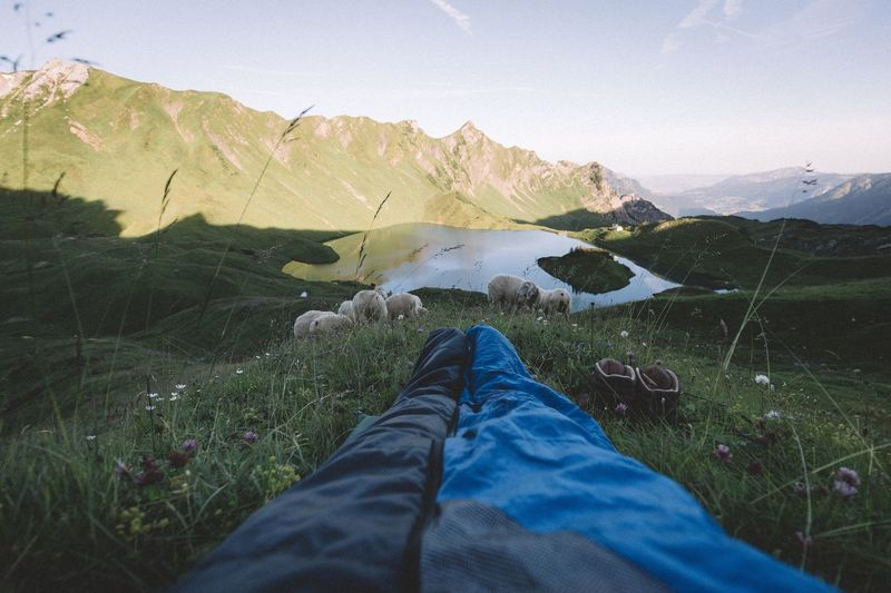 Sleeping with a view Travel Germany Outdoors Vacations Traveling EyeEm Best Shots Summer Nature Rural Explore Vscocam Leisure Activity VSCO Landscape Exploring Travel Destinations Photography Mountain Range Dawn Mountain Alps Bavaria Forest Earth Sunrise