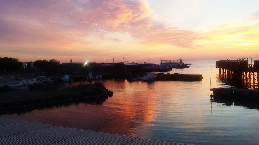 Sky Water Reflection Sunset Sea Boats⛵️ Livorno Italia Italy Clouds Colors Zen Sundown Travel First Eyeem Photo