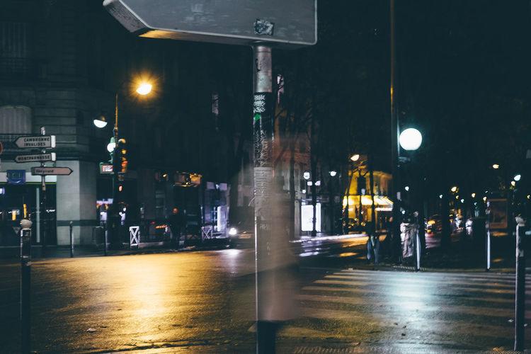 Night Walker 35mm Architecture City Ghost Illuminated Life Lighting Equipment Night Nightphotography No People Outdoors Paris Sky Street Light Streetphotography Transportation Underground Vibrant Color