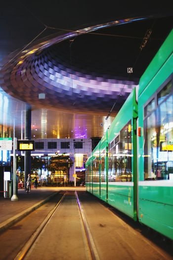 Messe Basel/Switzerland Basel, Switzerland Tram Night Photography