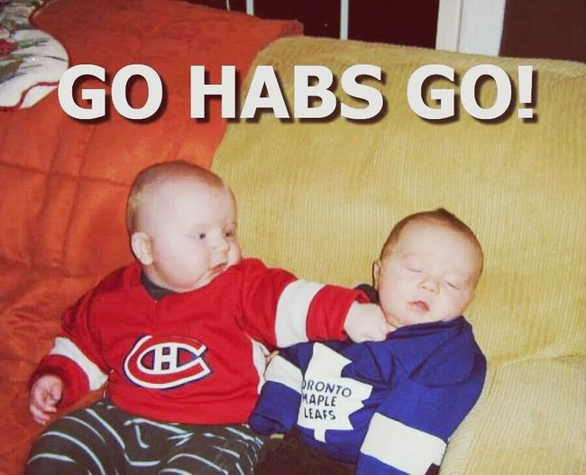 lol i know they lost the last game but hello.... too cute. go habs go NHL Hockey! Montrealcanadiens