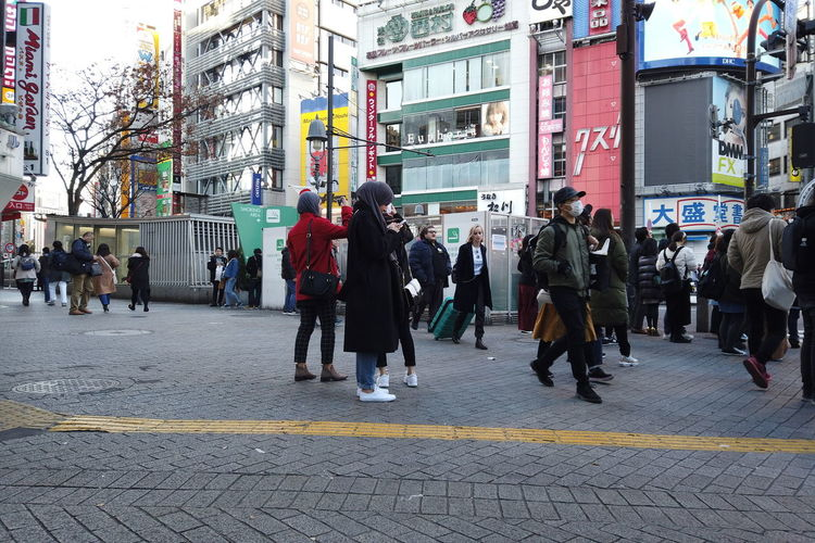 Streetphotography Urban Cityscape City People Urban Life Tokyo Japan Travel Shibuyacrossing Shibuya Crossing Holiday Daytime Busy Street Crowd Morning Shopping