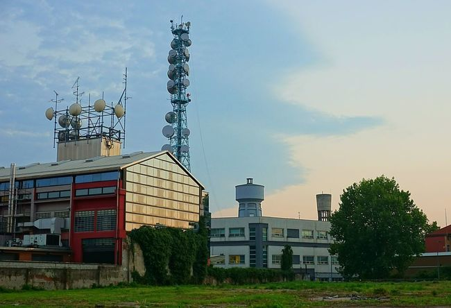 Architecture Built Structure Outdoors Urban Escape Urbanexploration Urban Photography Urbanlandsccape Panorama Landscape City Cityscapes Development No People Cloud - Sky No Nature Sony A6000 Hinterland Milano Minimalism Urban Geometry Transmission Line Tower Building Exterior TV Tower