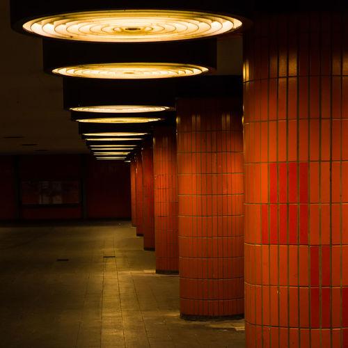 Empty corridor in subway