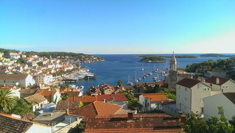 Beautiful view over Hvar City in Croatia Taking Photos Enjoying Life Holiday Croatia Open Edit Traveling Sound Of Life Hvar Old Town Summer Views Miles Away Your Ticket To Europe