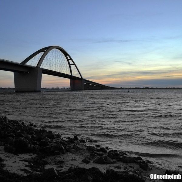 Fehmarn Fehmarnsundbrücke Bridge Sunset Sea Stones Gilgenheimbphotography
