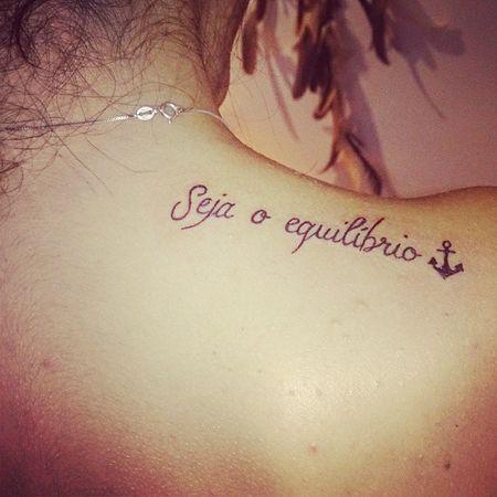 Tem espaço faz tatuagem♪   Tatuagem Equilibrium Anchor Tattoo Love