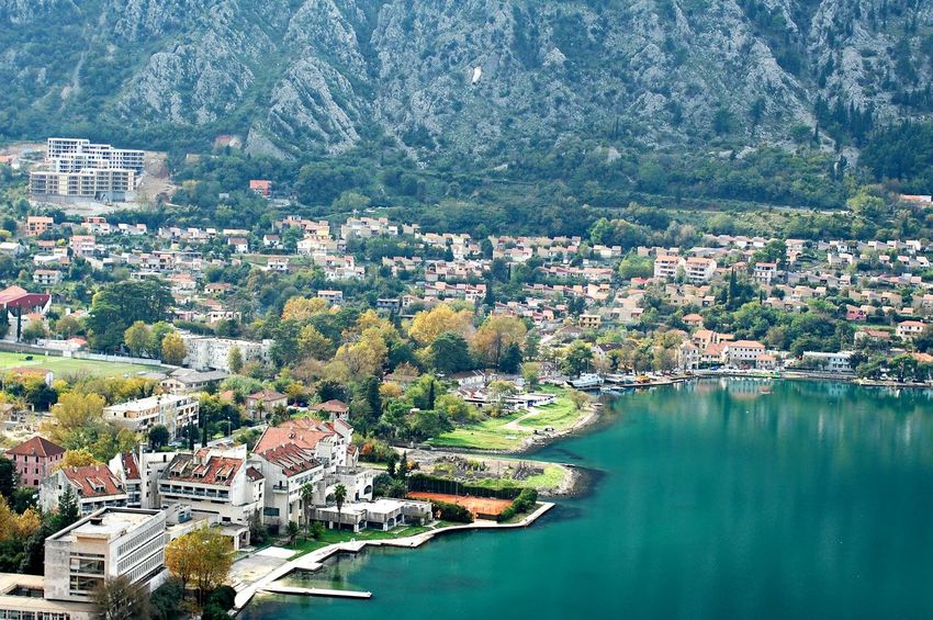 Kotor, Montenegro Aerial View Architecture Beauty In Nature Boka Kotorska Building Exterior Built Structure City Cityscape Day High Angle View House Kotor Bay Kotor, Montenegro Montenegro Mountain Nature No People Outdoors Residential Building Sky Town Tree View Water