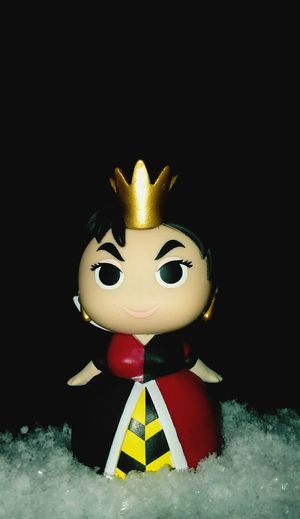 Celebration Figurine  Red Queen Snowflakes Magic Socute Surface Level Queenofhearts Colors Nightphotography Amazing Vibrant Color Snowfall Still Life In Front Of Funkopopvinyl Outdoor Photography Funko Outdoors Popfunko Colorful Childhood Extreme Close-up Nightshot Snowflake