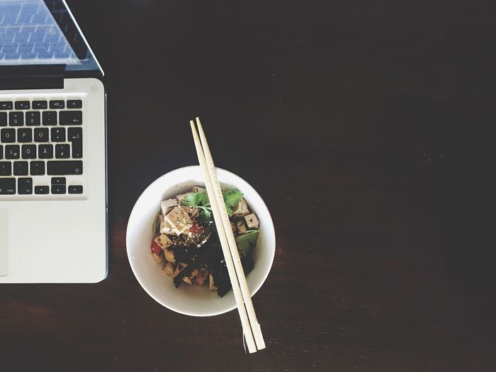 My first attempt at green tea soba noodles with marinated tofu, pepper and zucchini. So good! Working Hard Open Edit The Foodie - 2015 EyeEm Awards