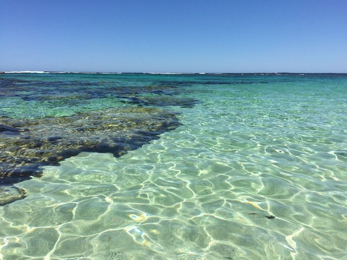 NoEditNoFilter Blue Sky And Green Sea Perth Australia Rottnest Island Beachphotography