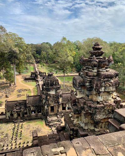 Architecture History The Past Day Built Structure Place Of Worship Building Outdoors Angkor Cambodia Angkor Thom Religion Ancient Belief Old Ancient Civilization Ruined No People Spirituality View From Above Bapuon Temple Baphuon Baphuon Temple