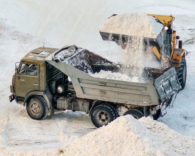 Throwing snow away. Summer, where are you? Snow Removal Snow Removing Snow Cleaning Snow Load Snow Loader Snow Dump Truck Dump Truck Transportation Land Vehicle Mode Of Transport Car Day