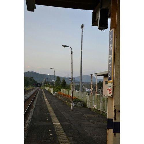 占冠駅 北海道 風景 駅