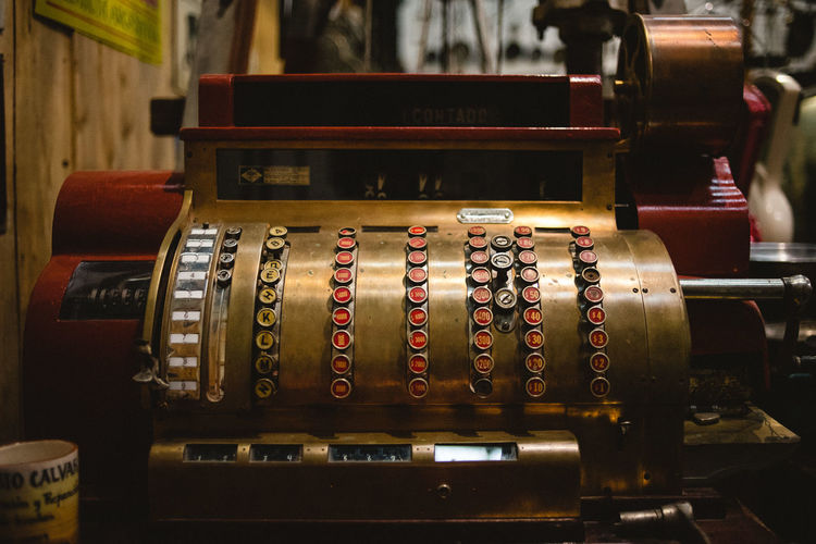 Retro Styled Antique Cash Register Old Indoors  Number Wood - Material History Communication Technology The Past Focus On Foreground No People Machinery Selective Focus Close-up Text Nostalgia Still Life EyeEmNewHere EyeEm Selects