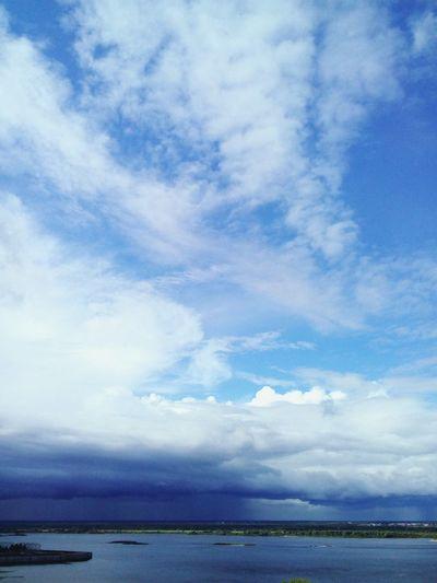City Art Film Summer Fifa2018 Bierd MOVIE River Volga River Nizhniy Novgorod Water Sea Blue Beach Dramatic Sky Water's Edge Sky Horizon Over Water Landscape Cloud - Sky Sun Lounger Sky Only
