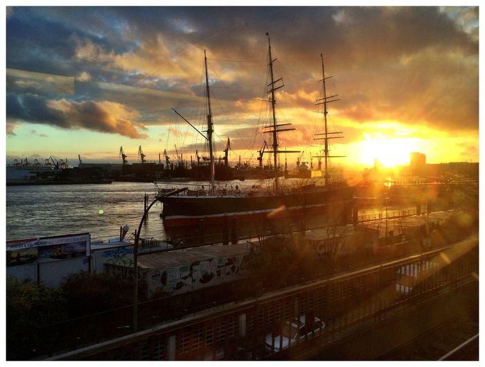 Beautiful Sunset at Hamburg. Near And Far