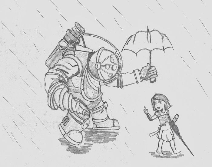 Bioshock drawing!!✏️? Bioshock Drawing Art