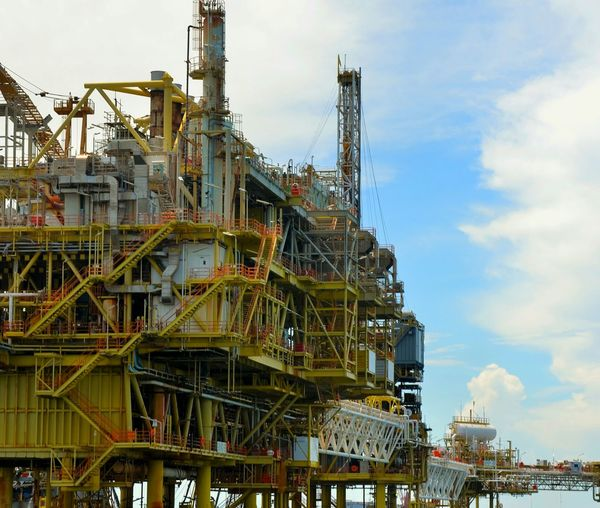 Oil refinery in operation Oil Drilling Off Shore Industry Oil And Gas Industry Off Shore Oil And Gas Safety First Safe Operation Work Safely