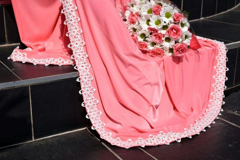Abaya And Hijab Times Muslimah Modestyisbeautiful Fashion&love&beauty Islamic Coral Flowers Beauty Close-up Only Women
